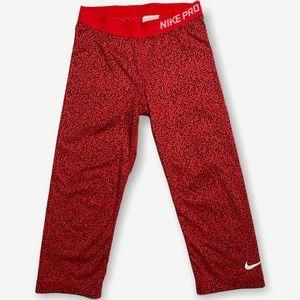Nike Pro Red Mezzo Print Training Leggings Tights